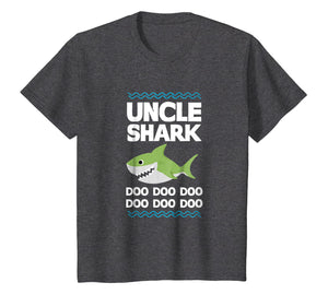 Uncle Shark T-Shirt Doo Doo Mommy Auntie Daddy Baby Tee