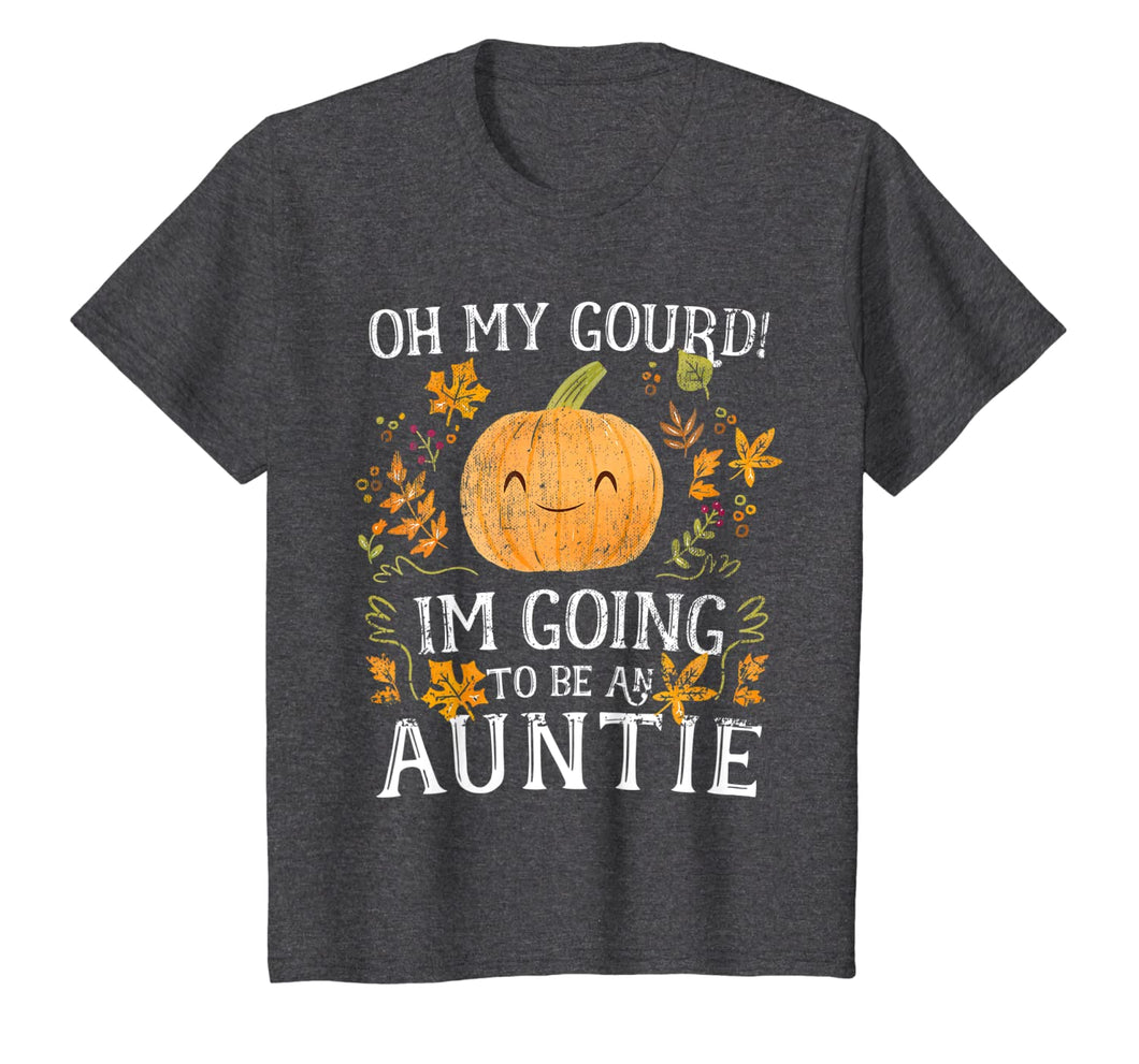 Oh My Gourd Im Going To Be Auntie Pumpkin Cute Funny Pun T-Shirt