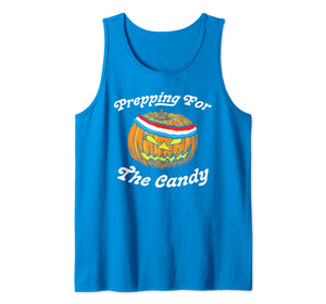 Prepping for the Candy! Funny Pumpkin Halloween Sweatband  Tank Top