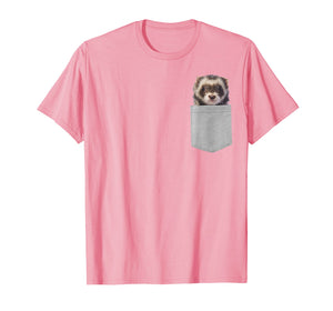 Funny shirts V-neck Tank top Hoodie sweatshirt usa uk au ca gifts for Animal in Your Pocket Funny Cute ferret peeking out t shirt 2564390
