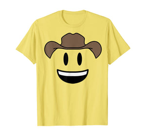 Smiling Cowboy Hat Face Emojis Emoticon Halloween Costume T-Shirt