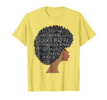 Laden Sie das Bild in den Galerie-Viewer, Funny shirts V-neck Tank top Hoodie sweatshirt usa uk au ca gifts for Strong Black Woman With Afro Natural Hair In Words Tee Shirt 2059250