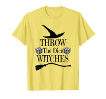 Laden Sie das Bild in den Galerie-Viewer, Throw The Dice Witches Funny Halloween Witch Casual T-Shirt