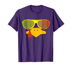 Retro 80s Sunglasses Shutter Shades Vintage Turkey Face T-Shirt