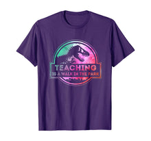 Laden Sie das Bild in den Galerie-Viewer, Teaching Is A Walk In Park Teacher Gift T-Shirt