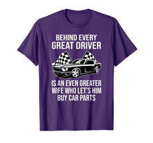 Laden Sie das Bild in den Galerie-Viewer, Funny shirts V-neck Tank top Hoodie sweatshirt usa uk au ca gifts for Funny Husband Driver Great Wife Racing Car Parts Tee Shirts 1003477