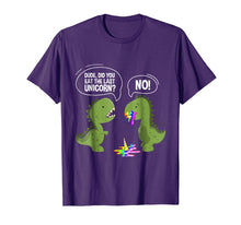 Laden Sie das Bild in den Galerie-Viewer, Funny shirts V-neck Tank top Hoodie sweatshirt usa uk au ca gifts for Dude Did You Eat The Last Unicorn T-Shirt Funny T-Rex Shirts 1217542