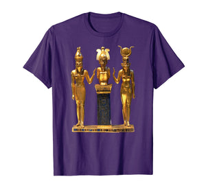 Funny shirts V-neck Tank top Hoodie sweatshirt usa uk au ca gifts for Egyptian Trinity Golden Horus Osiris and Isis Statue T-shirt 2119268