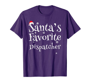 Santa's Favorite Dispatcher Perfect Christmas Gift T-Shirt
