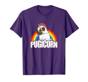 Pugicorn Pug Unicorn Gift For Dog Lovers  T-Shirt