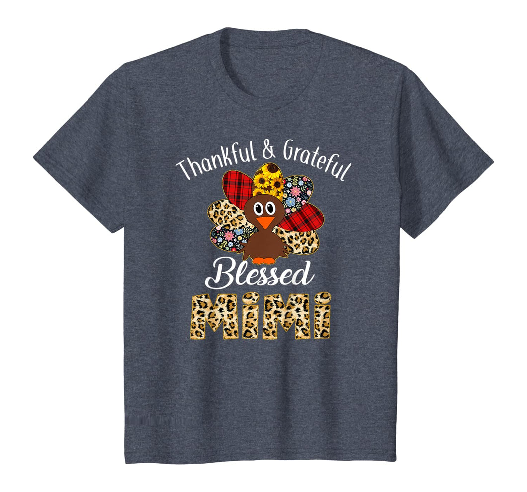 Thankful Grateful Blessed Mimi Turkey Thanksgiving T-Shirt