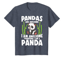 Laden Sie das Bild in den Galerie-Viewer, Panda Shirt Cute Panda Tshirt Pandas Are Awesome Panda Bear