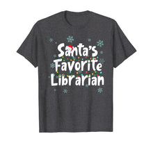 Laden Sie das Bild in den Galerie-Viewer, Santa's Favorite Librarian Funny Christmas Ornaments T-Shirt