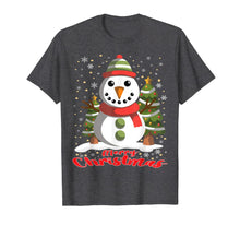 Laden Sie das Bild in den Galerie-Viewer, Snowman Merry Christmas Tree Snowflakes Cute Funny T-Shirt