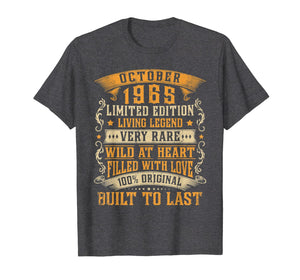 October 1965 Vintage Shirt 54th Birthday Gifts 54th Bday T-Shirt