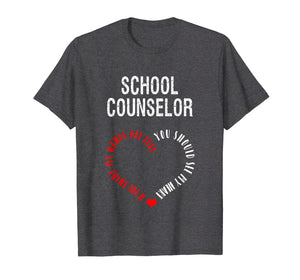 Funny shirts V-neck Tank top Hoodie sweatshirt usa uk au ca gifts for You Should See My Heart Adorable School Counselor T-Shirt 2093963