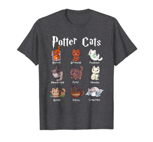 Potter Cats Cute Harry Pawter Kitten T-Shirt
