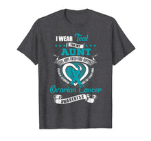 Laden Sie das Bild in den Galerie-Viewer, Funny shirts V-neck Tank top Hoodie sweatshirt usa uk au ca gifts for I Wear Teal For My Aunt Ovarian Cancer Awareness Shirt 2292387