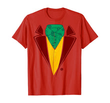Laden Sie das Bild in den Galerie-Viewer, Red Tuxedo With Green Collar Halloween Costume T-Shirt