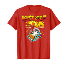 Laden Sie das Bild in den Galerie-Viewer, Roast Beef Cow On Beach Vacation Sun Tan T-Shirt