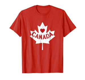 Funny shirts V-neck Tank top Hoodie sweatshirt usa uk au ca gifts for I Love Canada Maple Leaf Canadian Pride T-Shirt 1100722