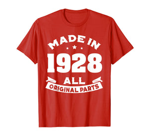 Funny shirts V-neck Tank top Hoodie sweatshirt usa uk au ca gifts for Age Shirt Made in 1928 91st Years Old 90 Birthday Gift 1281643