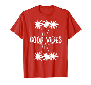 Funny shirts V-neck Tank top Hoodie sweatshirt usa uk au ca gifts for Good Vibes White Letter palm T Shirt for Women Men 2409716