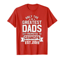 Laden Sie das Bild in den Galerie-Viewer, Funny shirts V-neck Tank top Hoodie sweatshirt usa uk au ca gifts for Promoted To Grandpa Est 2019 T Shirt perfect idea gift dad 170047