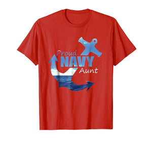 Proud Navy Aunt T Shirt for best US Army Aunty