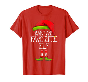 Santa's Favorite Elf Matching Family Christmas Funny Costume T-Shirt