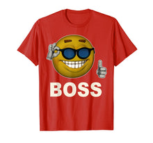 Laden Sie das Bild in den Galerie-Viewer, Smile Boss Face Emoji Sunglasses Emoticon Halloween Costume T-Shirt