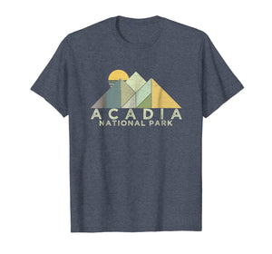 Retro Acadia National Park T-Shirt Distressed Hiking Tee