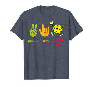 Funny shirts V-neck Tank top Hoodie sweatshirt usa uk au ca gifts for Peace Love Pickleball Tshirt Humor Sport Game Gift 1206829