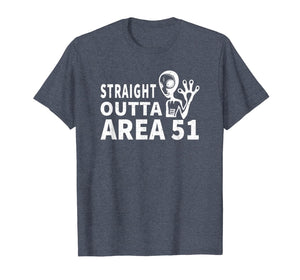 Straight Outta Area 51 Flying Saucer UFO Alien T-Shirt