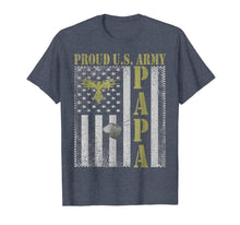 Laden Sie das Bild in den Galerie-Viewer, US American Flag For U.S. Army Veterans Papa Dog Tags Gift T-Shirt