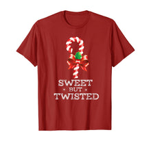 Laden Sie das Bild in den Galerie-Viewer, Sweet But Twisted Funny Candy Cane Christmas Xmas Pajama T-Shirt