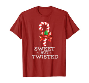 Sweet But Twisted Funny Candy Cane Christmas Xmas Pajama T-Shirt