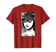 Laden Sie das Bild in den Galerie-Viewer, Uzumaki junji Ito T-shirt manga anime japanese horror gift