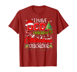 OCD Obsessive Christmas Disorder Funny Holiday  T-Shirt