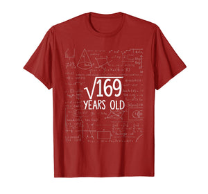 Square Root of 169: 13th Birthday 13 Years Old T-Shirt
