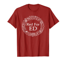 Laden Sie das Bild in den Galerie-Viewer, Funny shirts V-neck Tank top Hoodie sweatshirt usa uk au ca gifts for Red For Education Red For Ed Teachers Protest T Shirt LA Men 2128105
