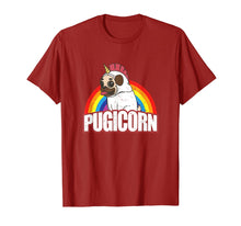 Laden Sie das Bild in den Galerie-Viewer, Pugicorn Pug Unicorn Gift For Dog Lovers  T-Shirt