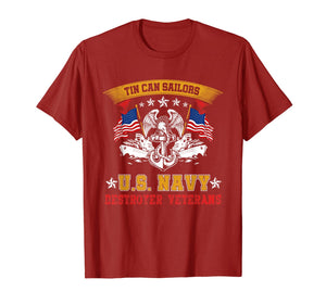 Tin Can Sailors U.S Navy Destroyer Veterans T-Shirt