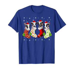 Santa Cow in Socks Funny Cow Christmas Pajama Gift T-Shirt