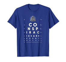 Laden Sie das Bild in den Galerie-Viewer, Shane Dawson All-Seeing Eye Chart Conspiracy T-Shirt