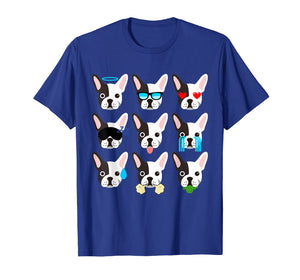 Funny shirts V-neck Tank top Hoodie sweatshirt usa uk au ca gifts for Emoji Boston Terrier Dog Face T-Shirt Funny 2323391