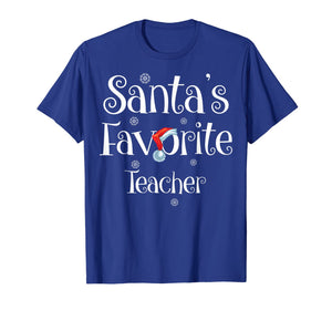 Santa's Favorite Teacher Job Xmas gifts T-Shirt