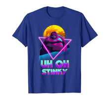 Laden Sie das Bild in den Galerie-Viewer, Uh Oh Stinky Poop Le Monke 80s Vaporwave Outrun Style T-Shirt