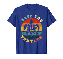 Laden Sie das Bild in den Galerie-Viewer, Save The Turtles Vintage Funny Turtles Lover Gift T-Shirt