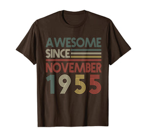 Retro November 1955 64 Years Old 64th Birthday Decorations T-Shirt